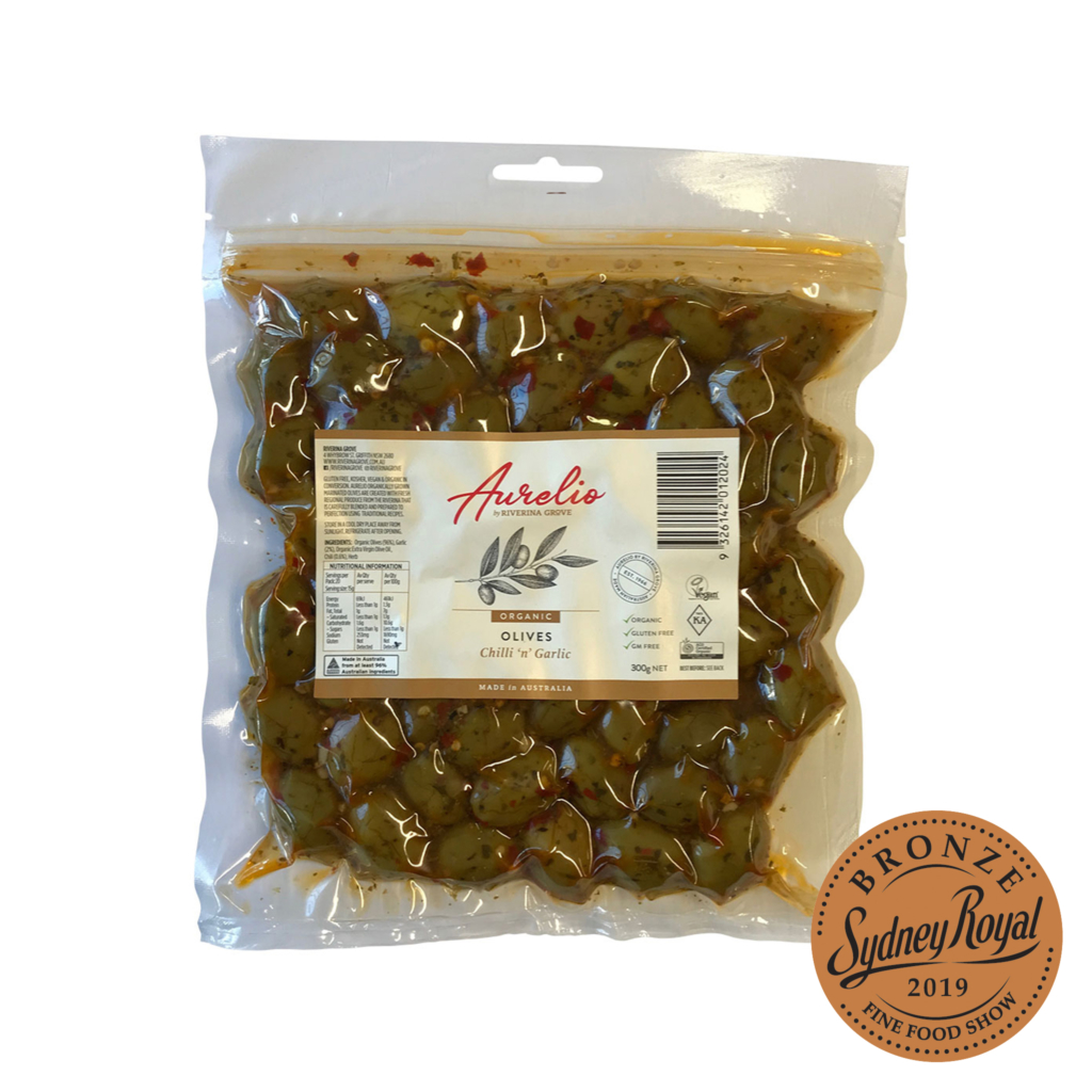Organic Chilli Garlic Olives